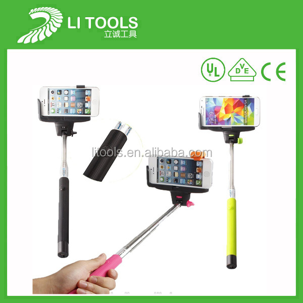 High quality bluetooth selfie stick for callphone