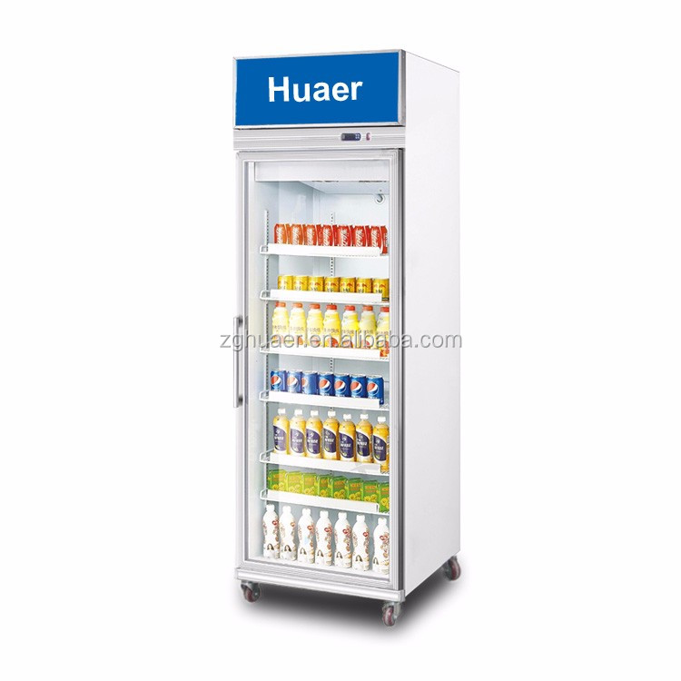 380L Glass Door redbull Beverage Refrigerator