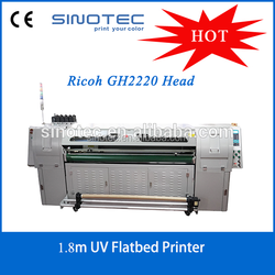 2016 Lastest High Quality 1.8m Roll & Sheet UV Flatbed Printer