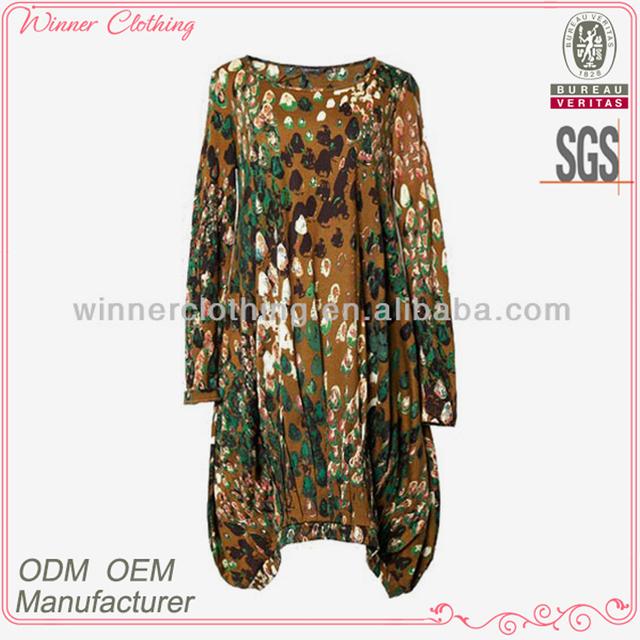 High quality xxxl bubble style muslim dress long sleeve
