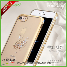 Factory Wholesale Cellphone Cases Luxury Rhinestone TPU Soft Mobile Phone Shell Case for iPhone 7/7Plus