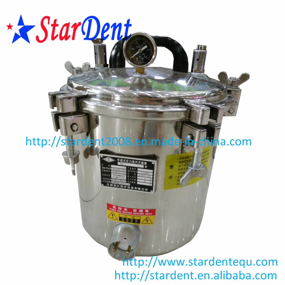 18L Dental Pressure Cooker Without Faucet Stainless Steel Sterilizer Sterilization of Lab Equipment