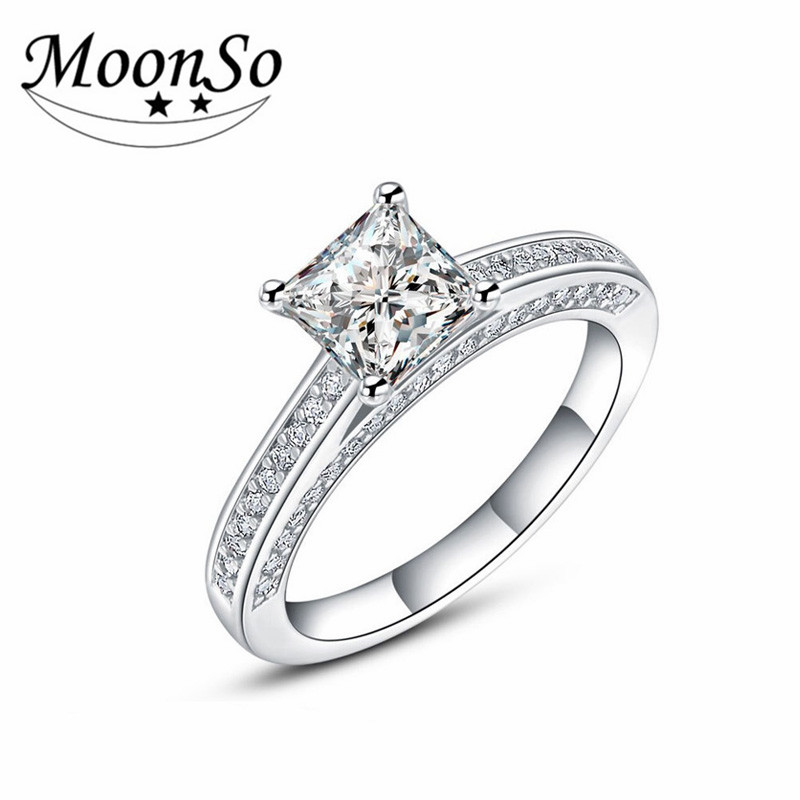 MOONSO Wholesale High Quality 925 Sterling Silver Fashion Diamond Jewelry Rings Antique Rings AR645S