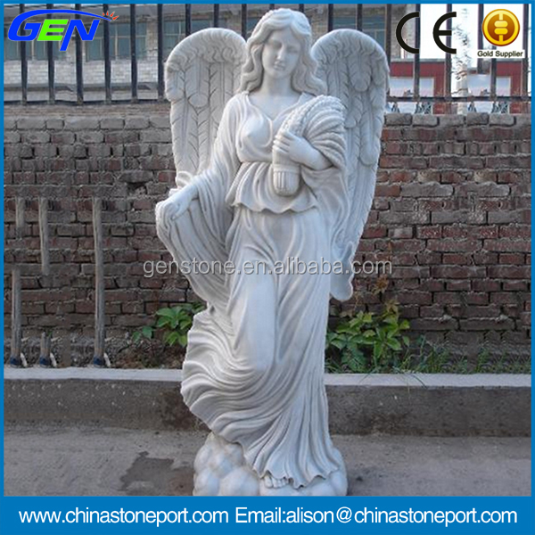 Western Style Natural Stone Carving Angle Statue & sculpture