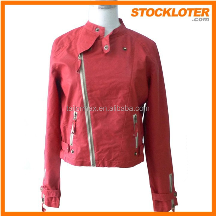 2015 Outlet ladies cool PU jacket overstock 150304f