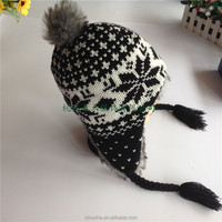 fashion windproof soft & warm fashion girls winter hats in differ colors