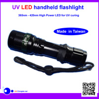 High power led 365nm uv flashlight for detecting fluorescer in cosmetics and baby stuff, Counterfeit Banknotes, Minerals, diamon