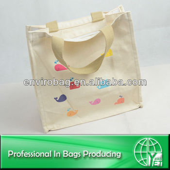 Factory directly sale fashion design reusable canvas bag