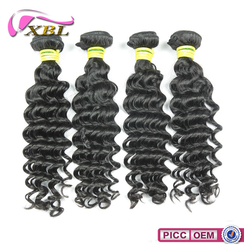 Healthy human hair bundle, Virgin Remy Indian Deep Curly