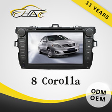For radio corolla 2008 car dvd gps 2 din built in bluetooth hands free call system