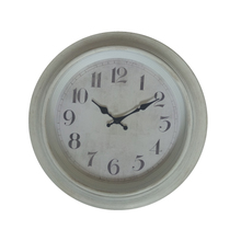 18 inches plastic white large retro antique wall clock with painting