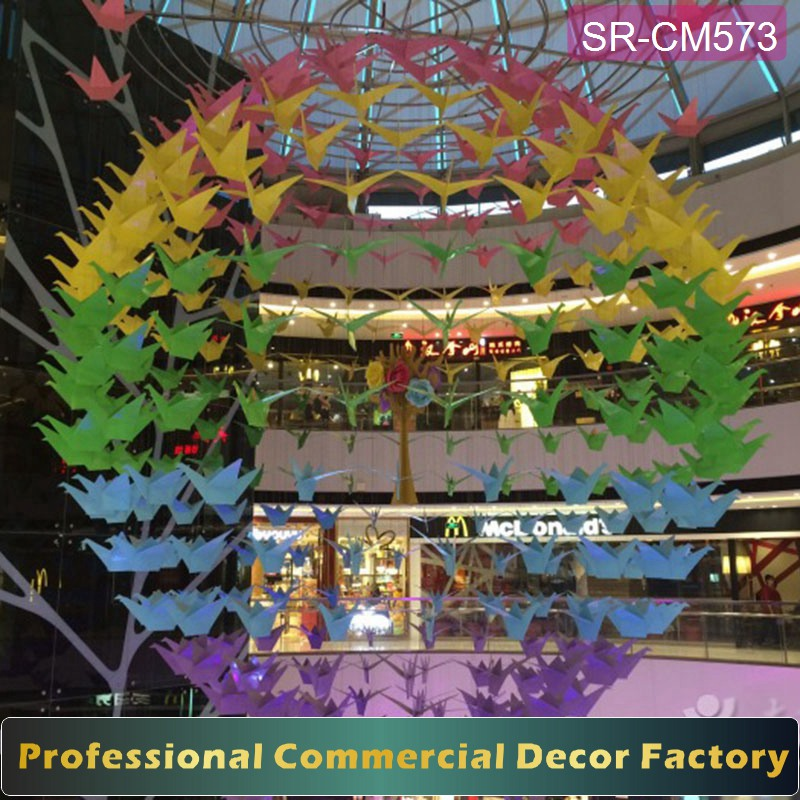 Customize shopping mall hanging dove decoration