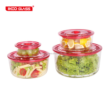 Hot selling glass vacuum dry food container