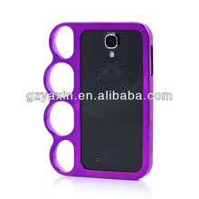 Cheapest New Design Bumper finger case s4,pc mobile phone case for samsung s4
