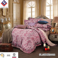 5star hotel luxury skin feeling embroidered jacquard comforter bed sheet set