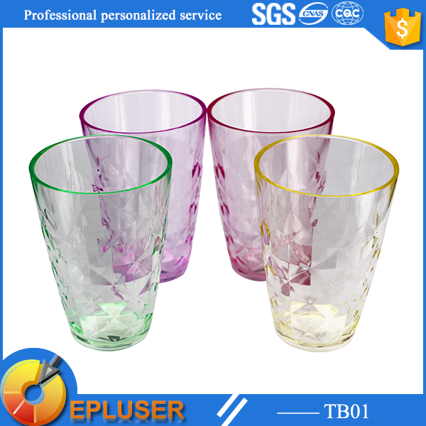 TB01 Epluser New arrival Water Cups & Saucers Drinkware Type BPA free plastic tumbler cups fancy plastic cups