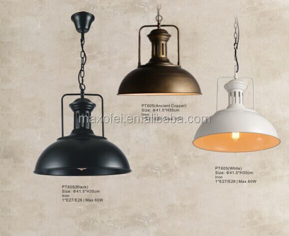 Vintage Lighting Retro iron shade single-head Industrial chandelier/droplight/pendant lamp