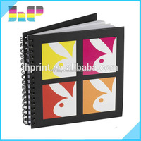 Print books in China bulk soft cover spiral bound notebook with paper cover with dividers
