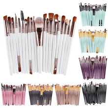 22Colors choice professional 20pcs makeup tools set toiletry kit wool cosmetic foundation make up <strong>brushes</strong> for beauty