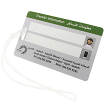 Airplane travel luggage tag sets