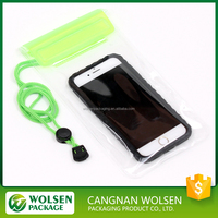2016 hot new products cheap mobile phone PVC water resist cases , waterproof cell phone bag
