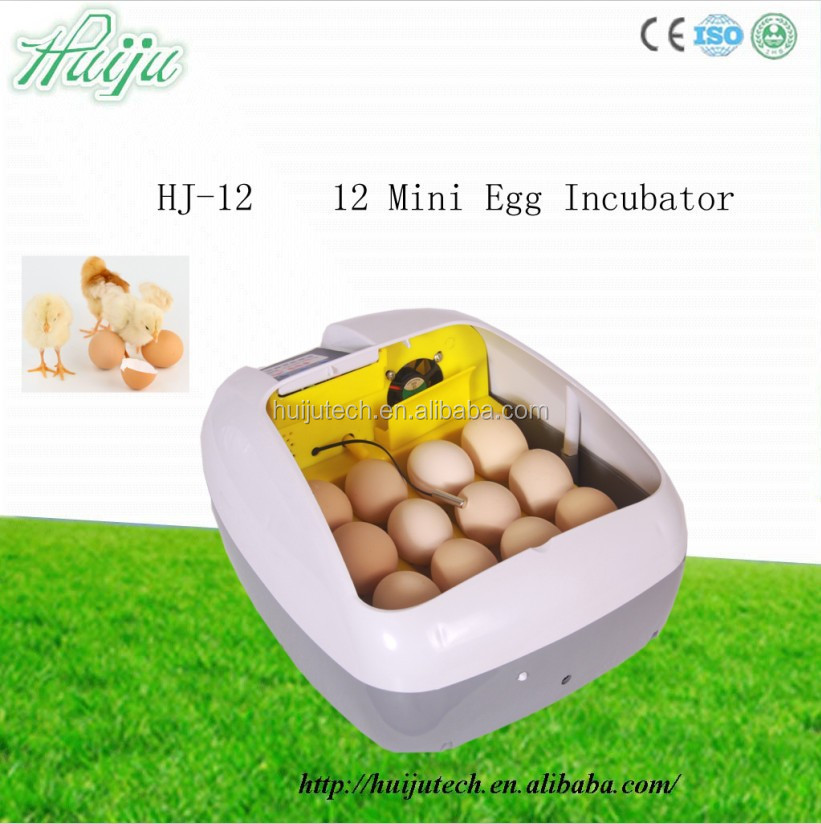 2015 new product Household eggs incubator can holding 12 eggs/Small poultry incubator machine /egg incubator price HJ-12