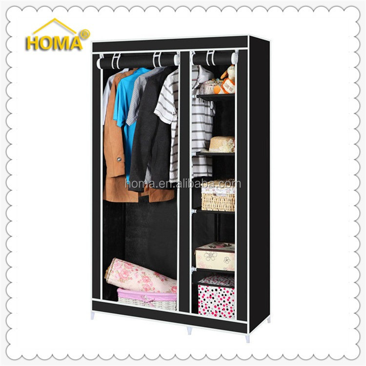 Folding fabric bedroom simple assembly wardrobe