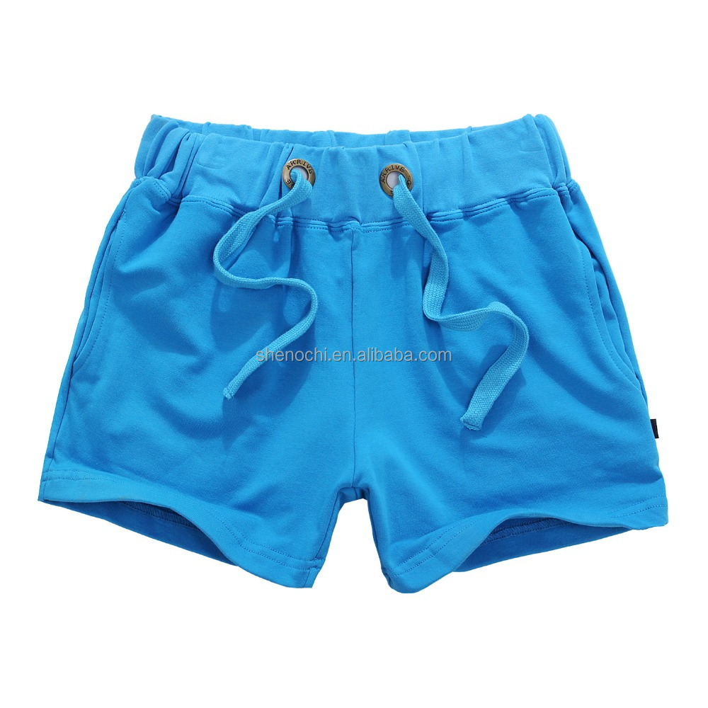 Breathable wholesale polyester cotton sports short pants sweat shorts for couple
