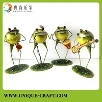 Promotion Metal Frog figure for Garden Yard Lawn outdoor Decor