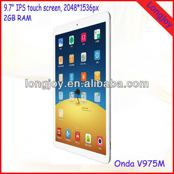 Best Quality Onda V975M 9.7 inch Android 4.3 Quad Core Tablet PC 2GB Ram