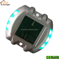 Green blue red white yellow led flashing square solar cat eye road stud