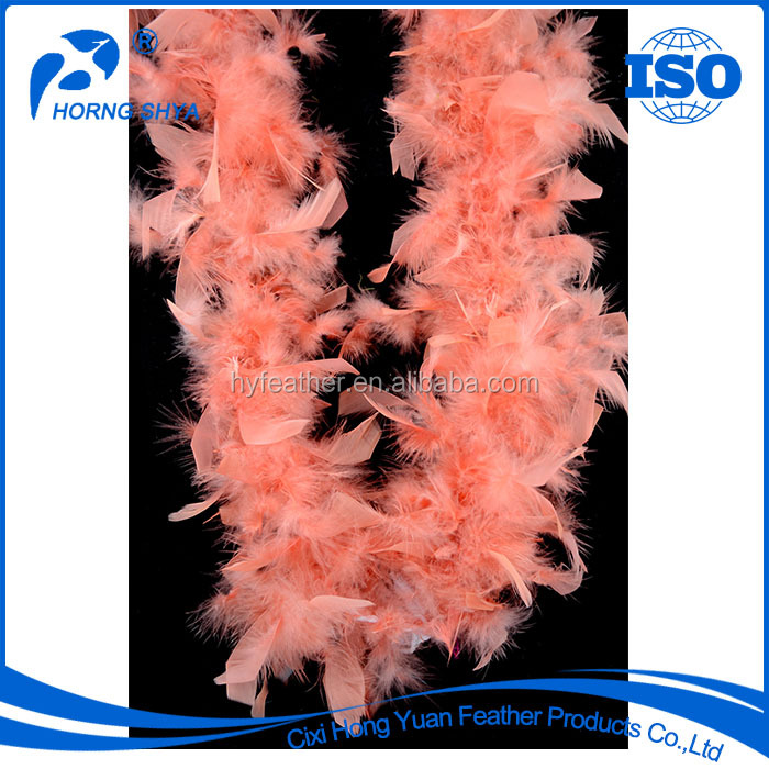 Alibaba Trade Assurance Guarantee 5001Excellent Quality Handmade 2 Yard Feather Boa Product Chandelle Boa