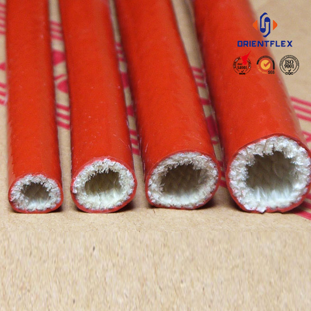 Hose and cable protect Silicone coated fiberglass sleeving