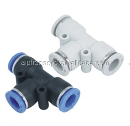 PE Three Way Pipe Fitting/Quick Connection/Tube Fitting