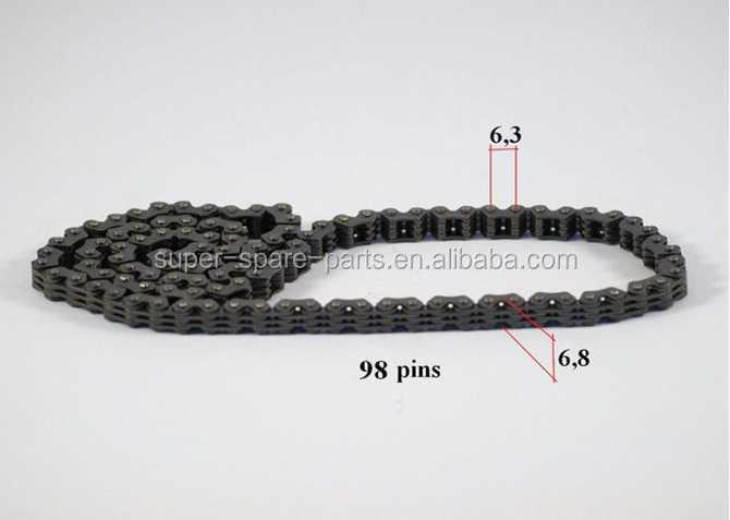 wholesale high quality moto chain 98 pin for air cooling 250cc 4 stroke engine