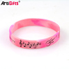 Customized personalized newest fashion cheap color changing silicone bracelet