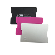 Custom Logo Print RFID Blocking Plastic Business Card Holder/ Case