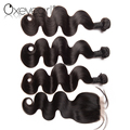 Top selling hot product brazilian hair weave bundles with closure
