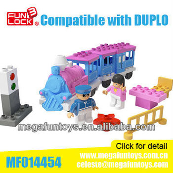 FUNLOCK New Kids Toys for 2014 Girl Friends Building Block Train Set Toy