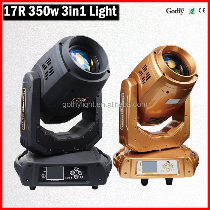 Professional 3in1 sharpy 350w 17r beam moving head light