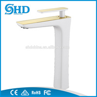 Factory Brass Bathroom Single handles basin faucets Water Mixer Tap Tall basin
