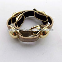 2013 popular bracelet gold leather bracelet for gift best selling jewlry brand factory popular jewelry factory BRCXQ014-14