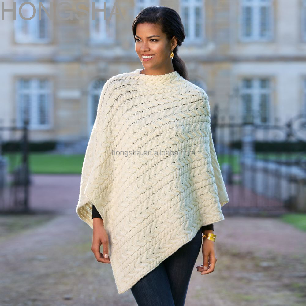 Merino Cape Knitting Pattern : Merino Wool Sweater Irish Wool Knitted Poncho Hsc1372 - Buy Wool Knitted Ponc...
