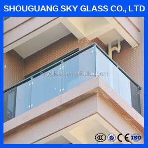 Factory Custom Swimming pool/ outdoor building polished tempered laminated glass fence panels