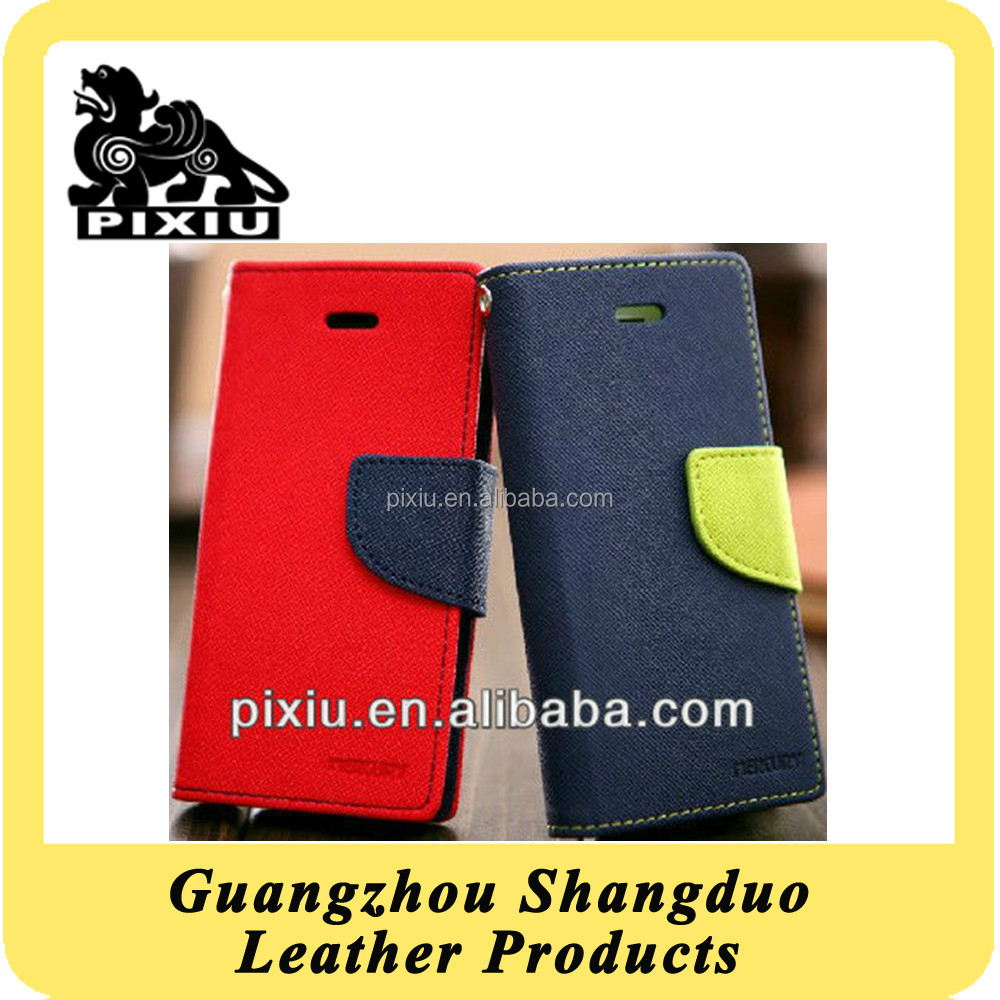 Hot Selling Custom Colourful PU Leather Wallet Case For Iphone5