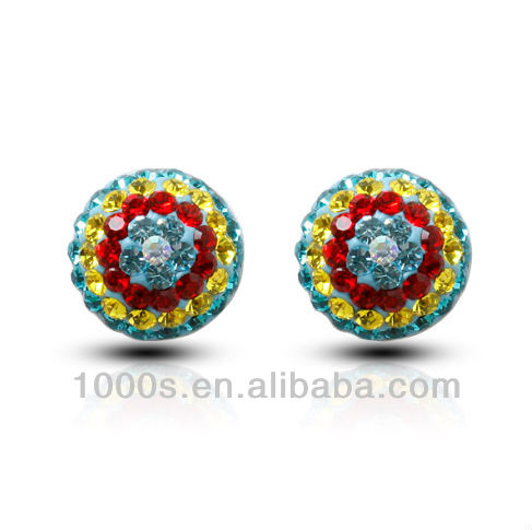 2014 fashion crystal silver jewelry earring