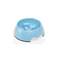 "Chi-buy Blue Slow Feeder Bowls and Anti Gorge Bowls Kitten Puppy Feeder,M Size:5.12""LX6.89""WX2.36""H"