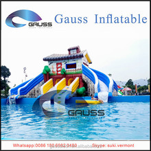Circular connection inflatable water slides/children inflatable playground slide