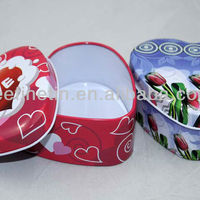 High Quality Small Cute Heart Tin
