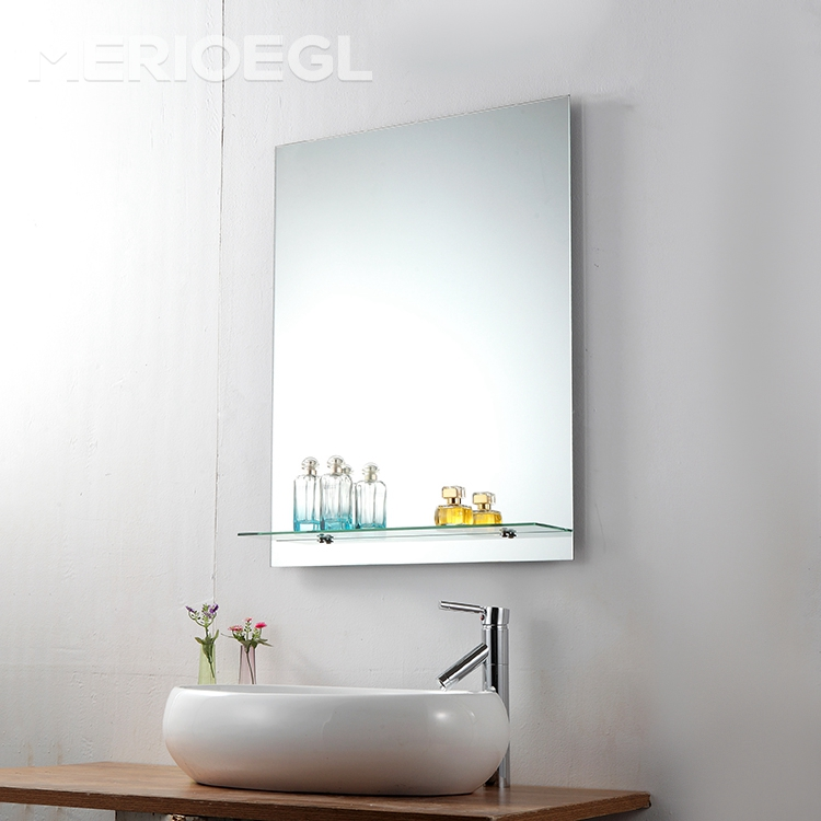 Popularing bathroom double layer aluminum wall mirror